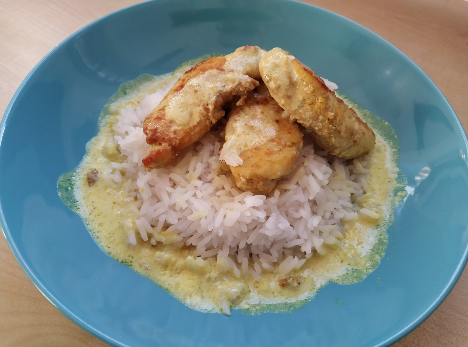 Chicken and Rice with Coconut Ginger Sauce
